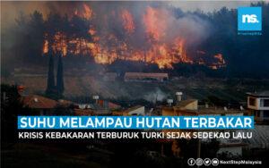 Suhu melampau, hutan Turki terbakar