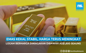 Emas kekal stabil, harga terus meningkat