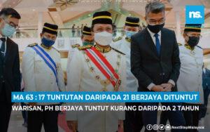 Warisan berjaya tuntut 17 daripada 21 tuntutan di dalam Perjanjian Malaysia 1963
