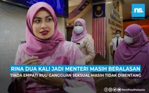 RUU Gangguan Seksual : 2 kali jadi Menteri namun Rina masih beralasan